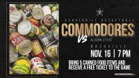 Vanderbilt Men's Basketball Canned Food Drive
