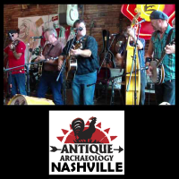 "Bluegrass Music Legends Reno & Harrell play at Antique Archaeology ""Pickin In The Corner"" Nashville"