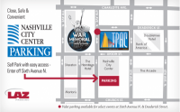 Parking Map for TPAC James K. Polk Theater