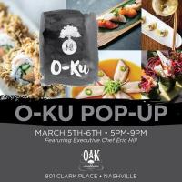 O-Ku Pop Up at Oak Steakhouse Nashville