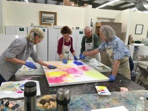 Mixed Media: Watercolor, Acryllic & Ink class at Plaza Art