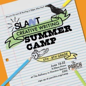 Have fun exploring creative writing at Camp SLANT