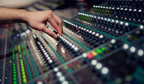 Mixing Board in a Nashville Recording Stuido