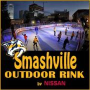 Smashville Outdoor Rink in downtown Nashville Tennessee