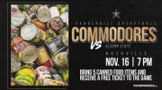 Vanderbilt Men's Basketball Canned Food Drive