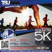 Annual TSU Big Blue Tiger 5k Run/Walk