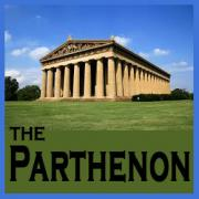 The Parthenon at Centennial Park in downtown Nashville Tennessee