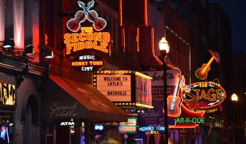 Famous Nashville Downtown Honky Tonk Strip