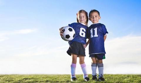 Kids playing soccer in Nashville