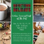 Cookies, Cocoa, and Craft at the Fort