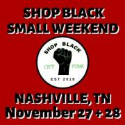 Shop Black Small Business Weekend Logo